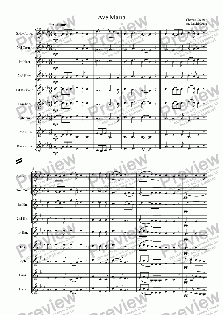 page one of Ave Maria [Gounod]