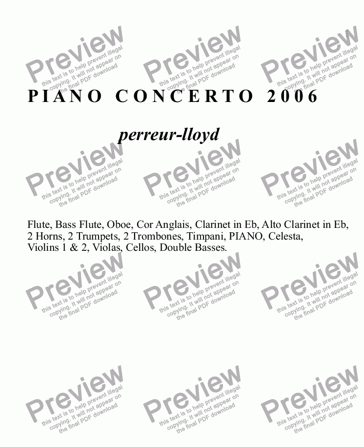 page one of 06.PIANO CONCERTO 2006