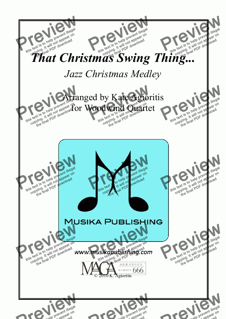 page one of That Christmas Swing Thing... - Woodwind Quartet