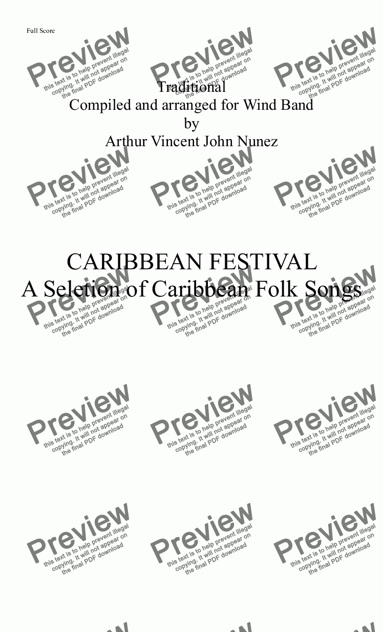 page one of CARIBBEAN FESTIVALASALTTEXT