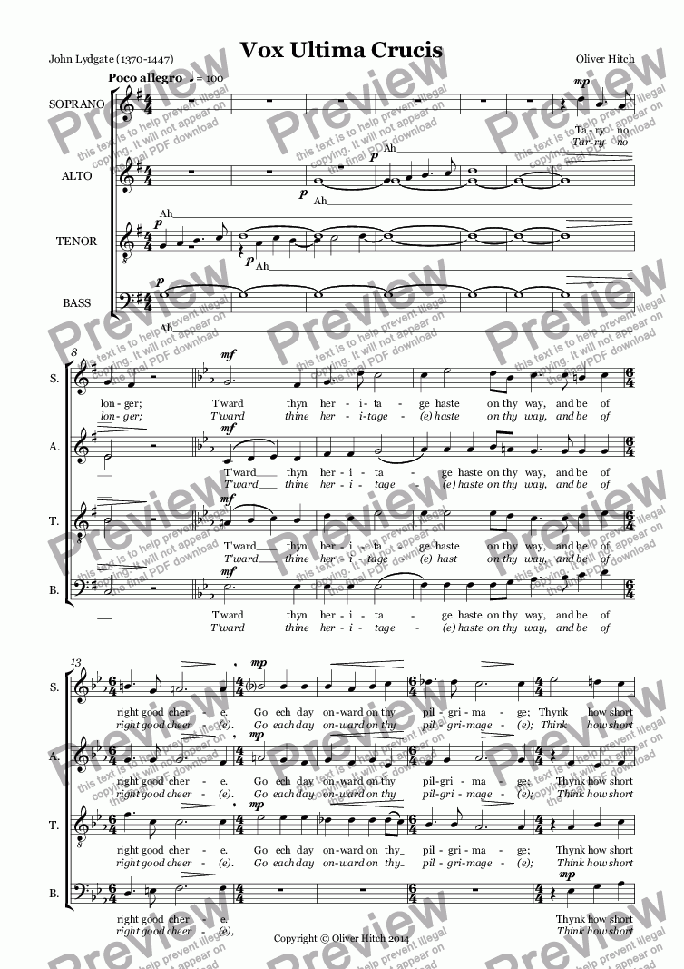 page one of Vox Ultima CrucisASALTTEXT