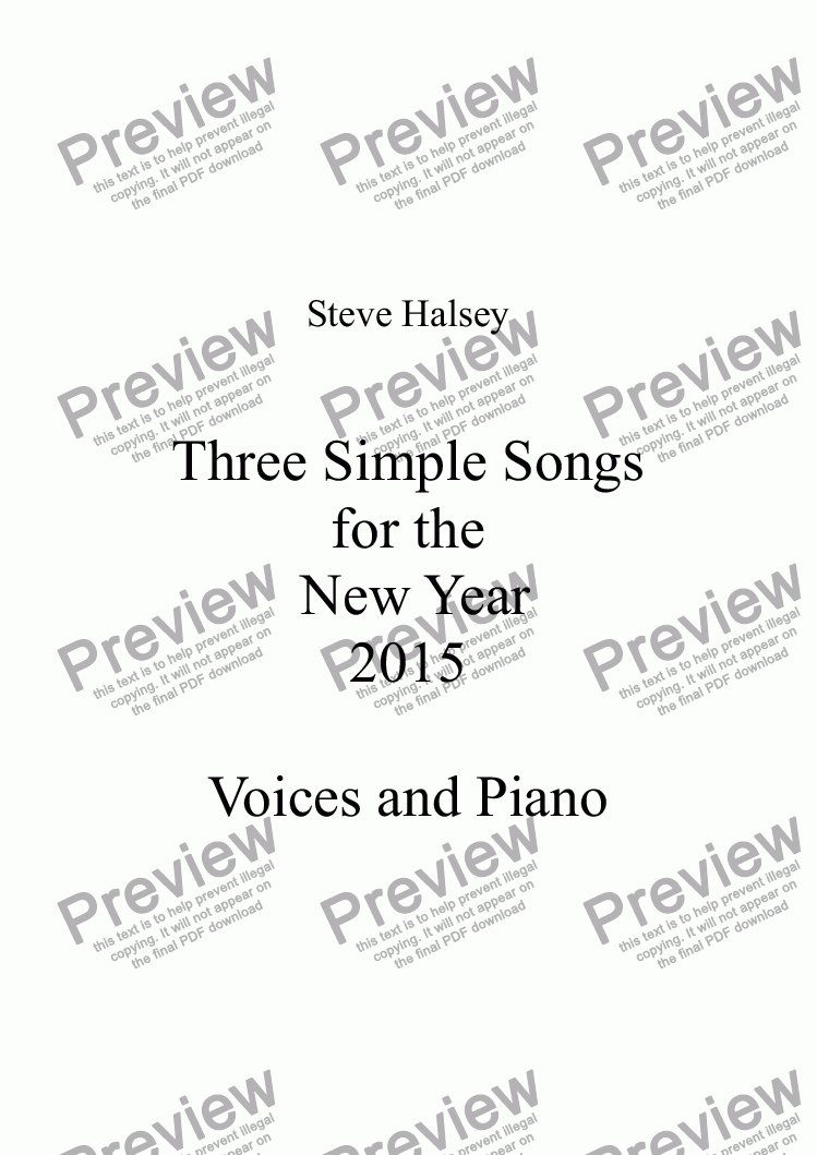 page one of No.1 A song for the New Year   Time and Time Again