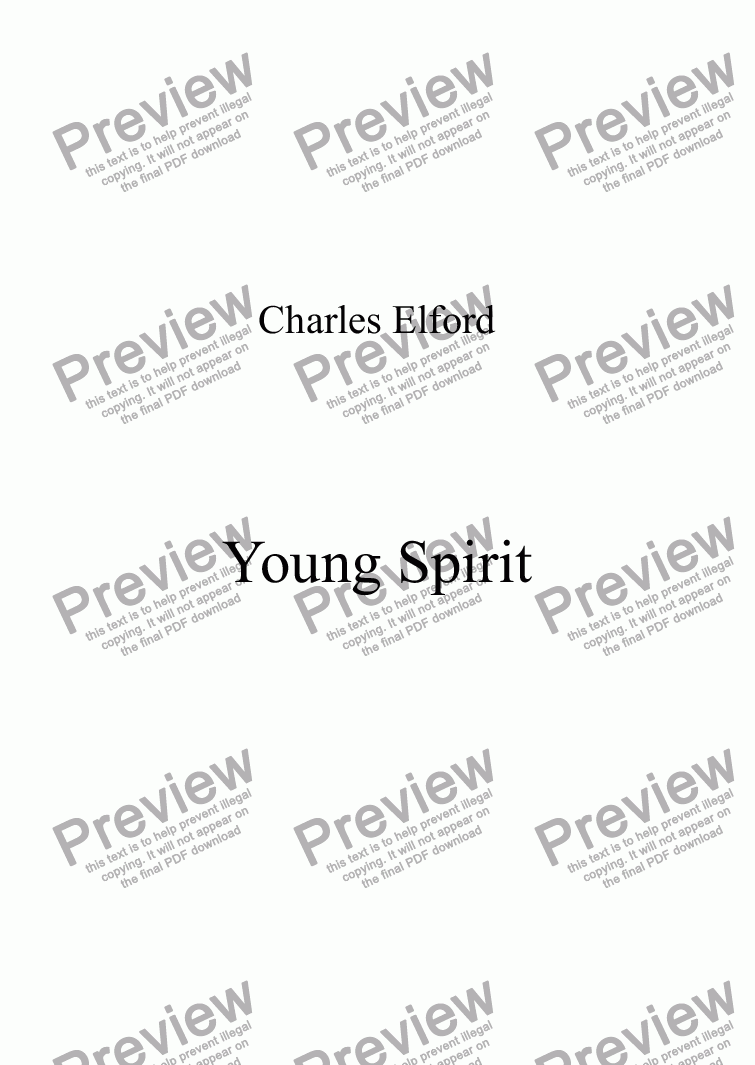 page one of YOUNG SPIRIT