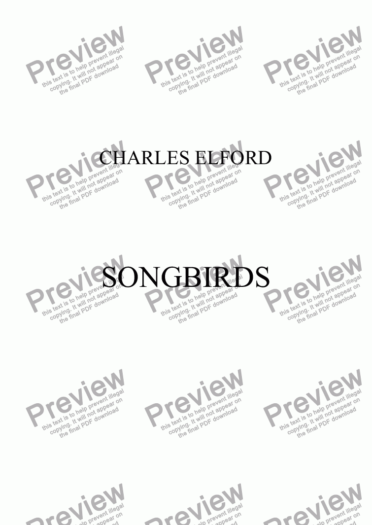 page one of SONGBIRDS
