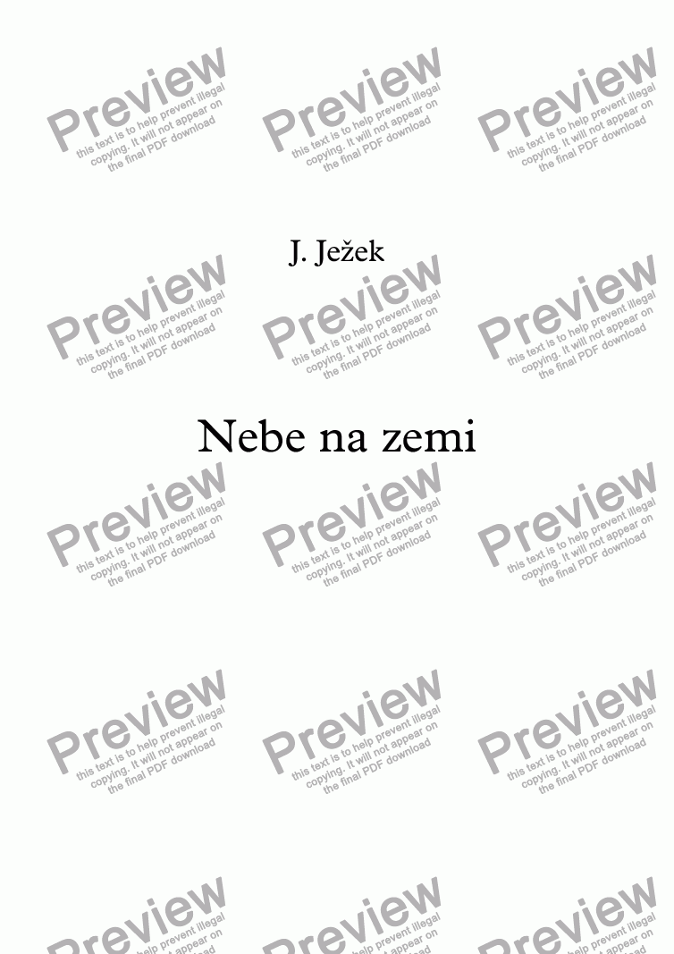 page one of Nebe na zemi