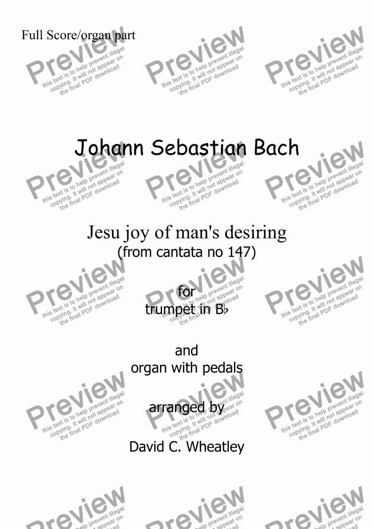 Download Cantata 147 Bach Organo Pdf Viewer