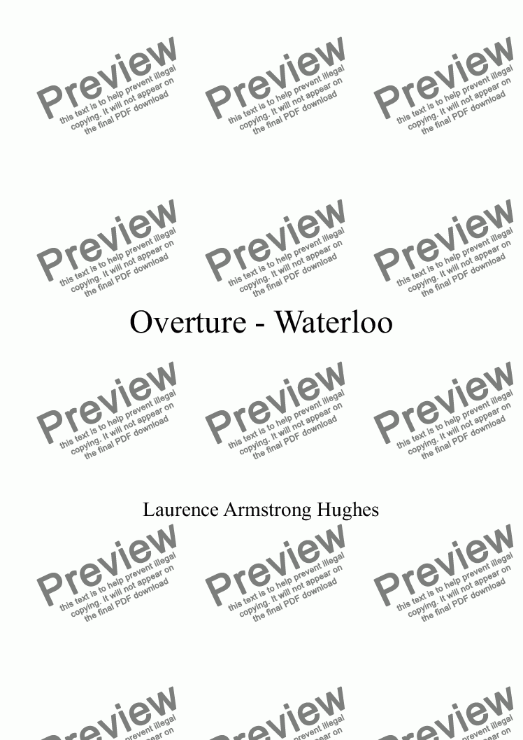 page one of Overture: 'Waterloo'