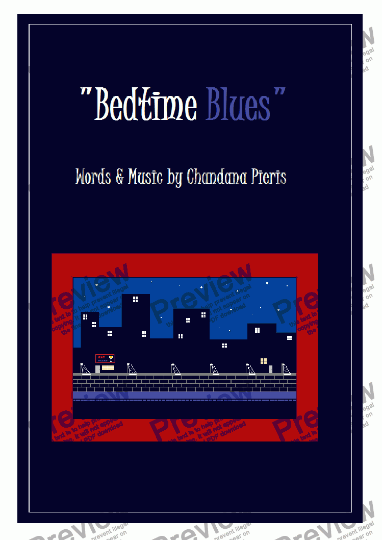 page one of Bedtime Blues