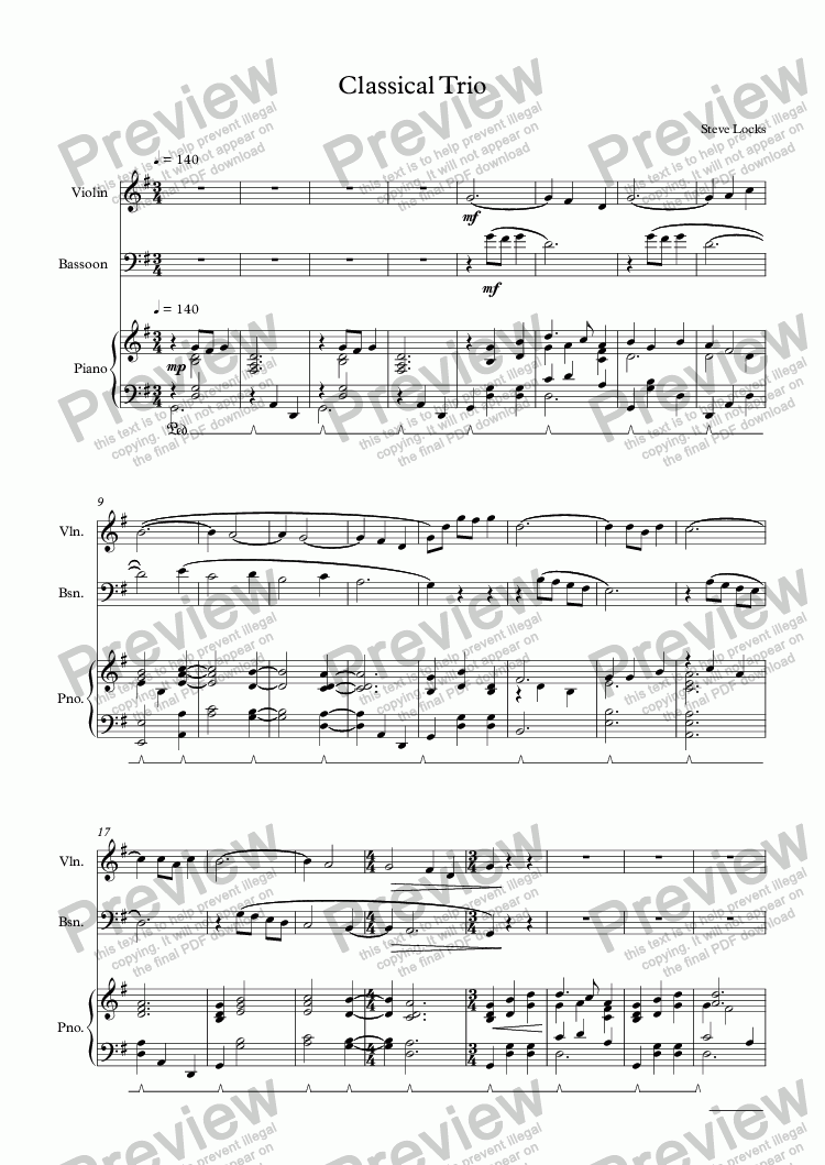 page one of Classical Trio