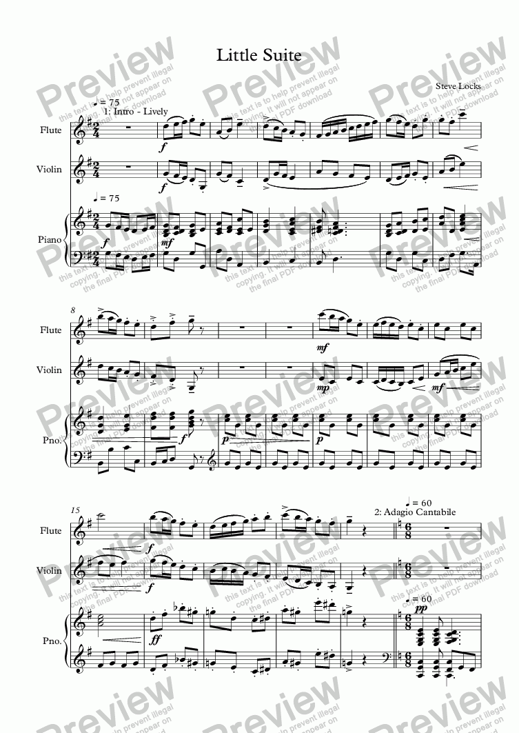 page one of Little Suite