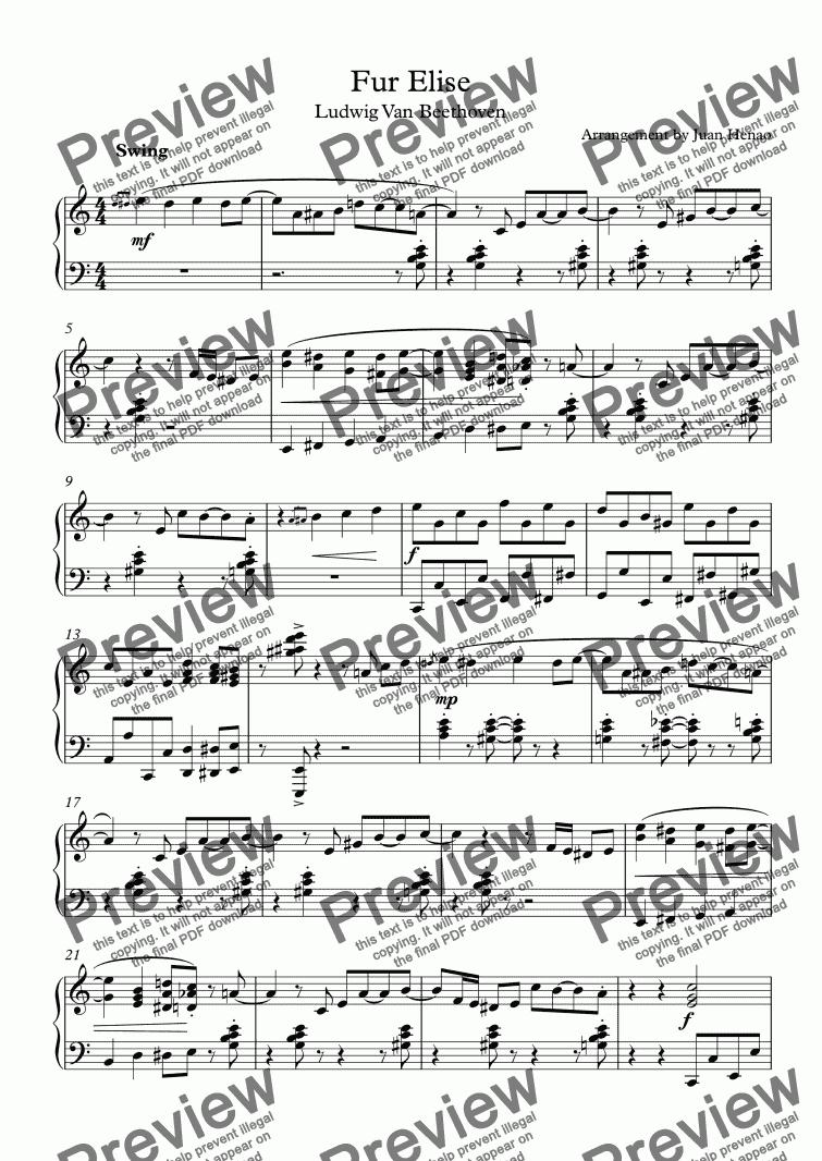 fur elise sheet music full version pdf