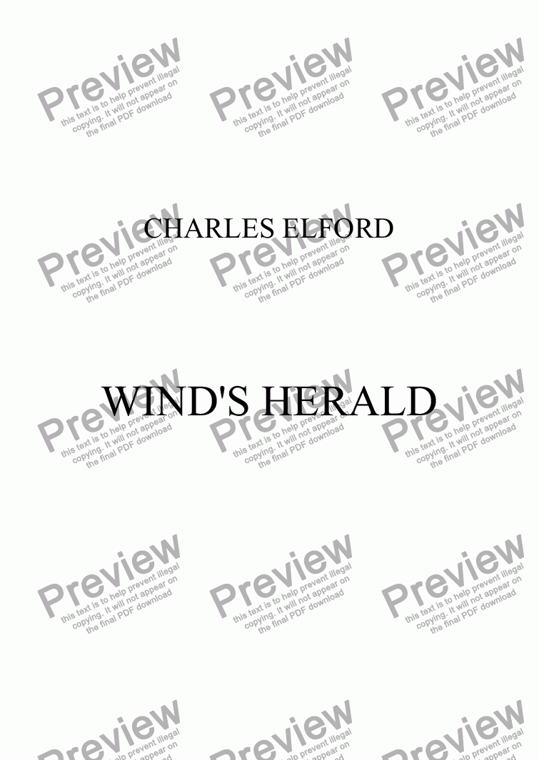 page one of WIND'S HERALD