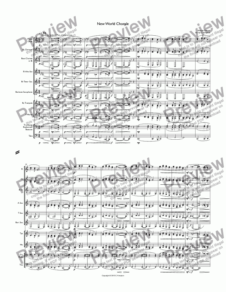 page one of New World Chorale