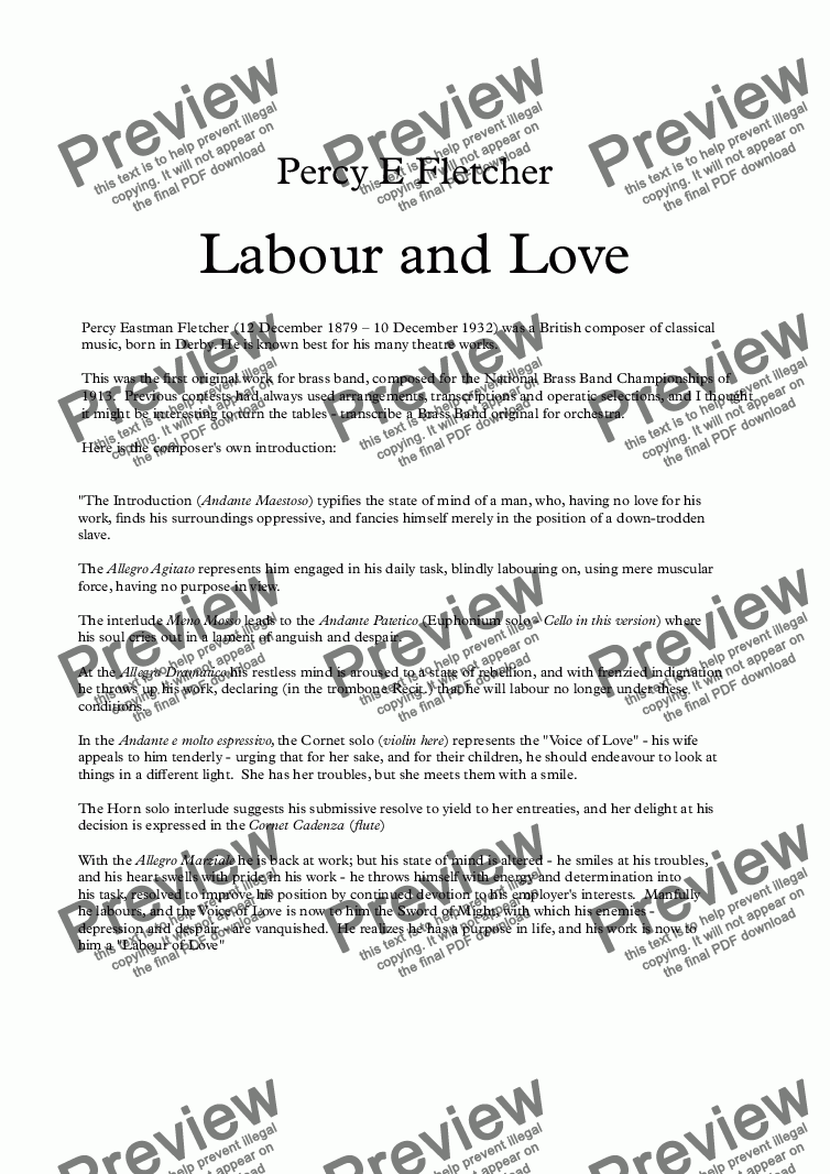 page one of Labour and LoveASALTTEXT