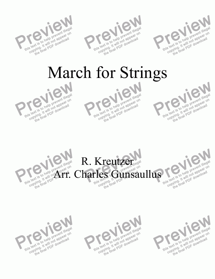 page one of March for Strings