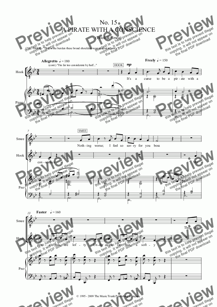 A Pirate with a Conscience for Voice + keyboard by George Stiles - Sheet  Music PDF file to download