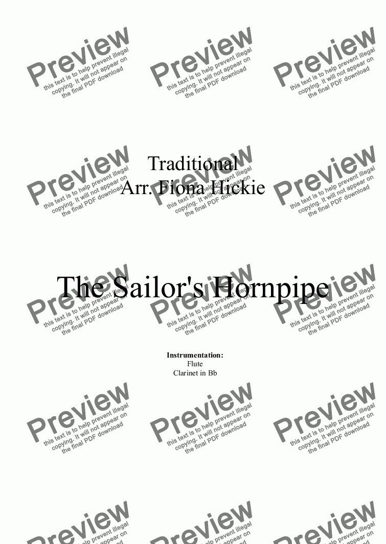 page one of The Sailor's Hornpipe