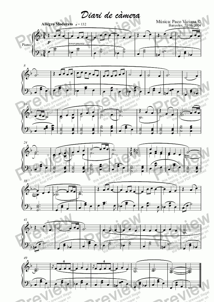 page one of 211-Diari de càmera (piano version)