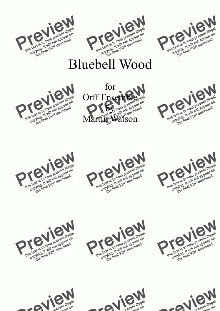 page one of Bluebell Wood for Orff EnsembleASALTTEXT