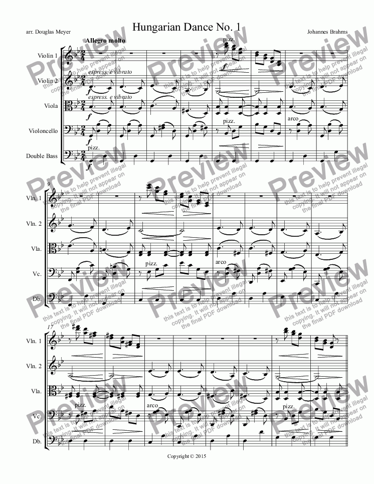 page one of Hungarian Dance No. 1ASALTTEXT