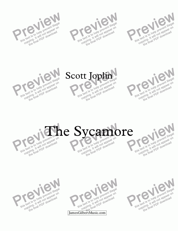 page one of The Sycamore