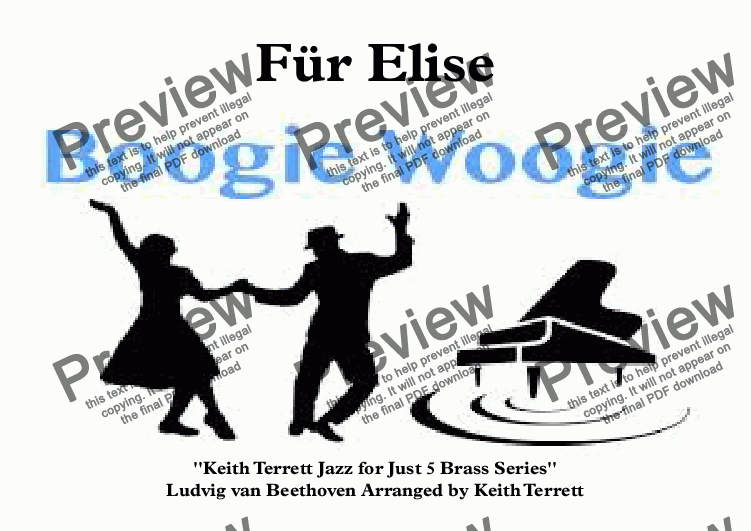 page one of Für Elise Boogie Woogie for Brass Quintet (Jazz for 5 Brass Series)ASALTTEXT