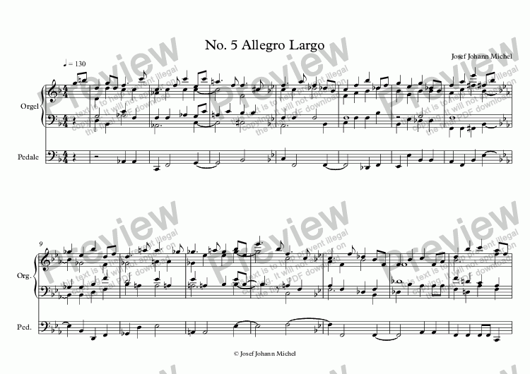 page one of No. 5 Allegro Largo