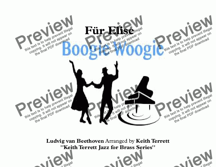 page one of Für Elise Boogie Woogie for Bb Trumpet & Piano (Jazz for Brass Series)