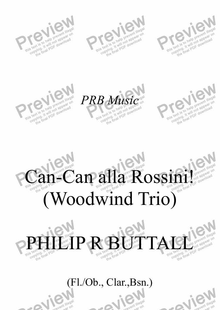 page one of Can-Can alla Rossini! (Woodwind Trio)