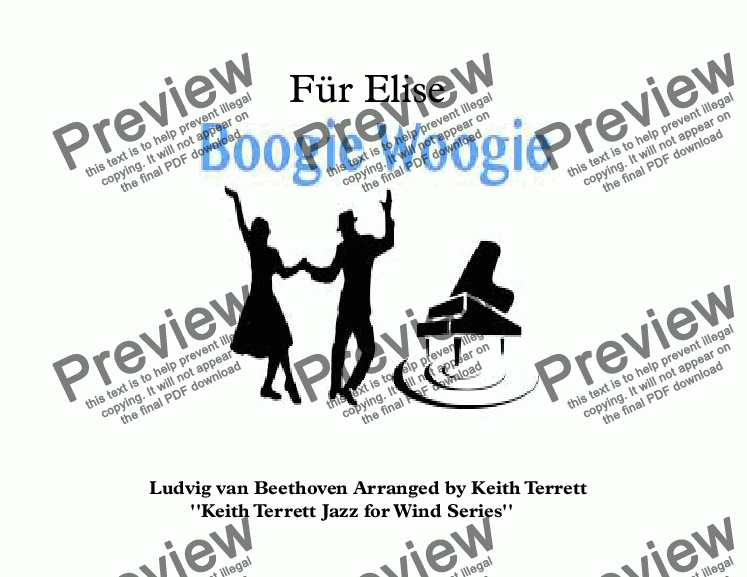 page one of Für Elise Boogie Woogie for Oboe & Piano (Keith Terrett Jazz for Wind Series)ASALTTEXT