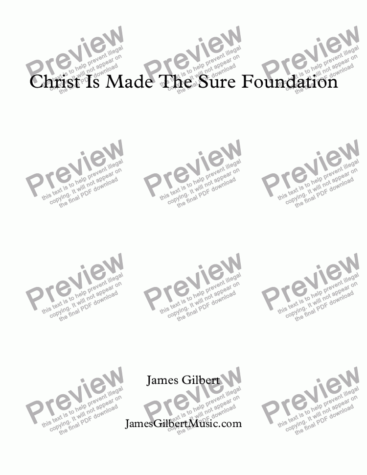 page one of Christ Is Made The Sure Foundation