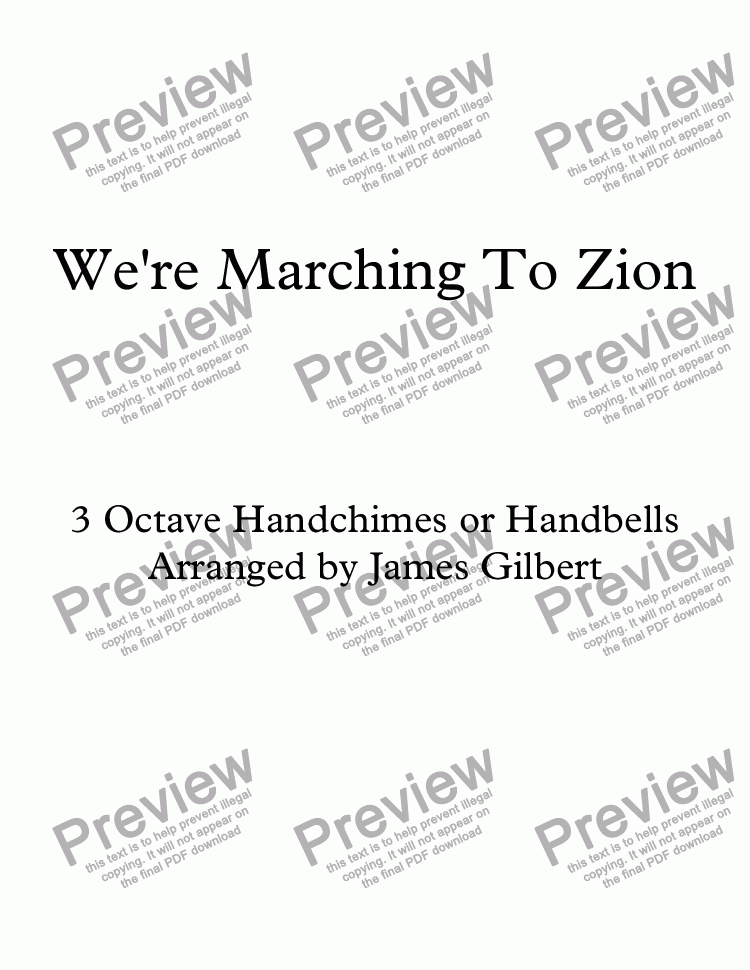 page one of We're Marching To Zion