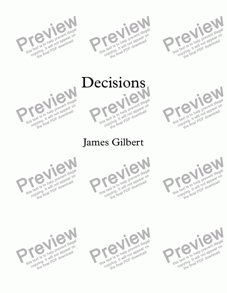 page one of Decisions