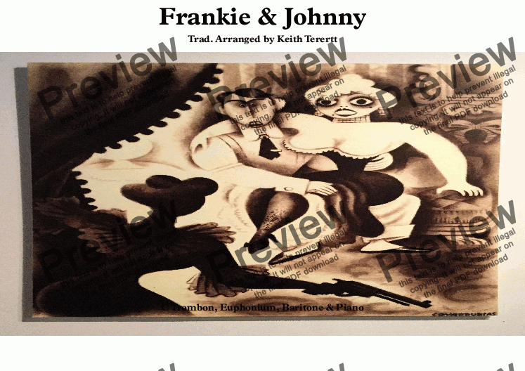 page one of Frankie & Johnny for C Trombone & Piano