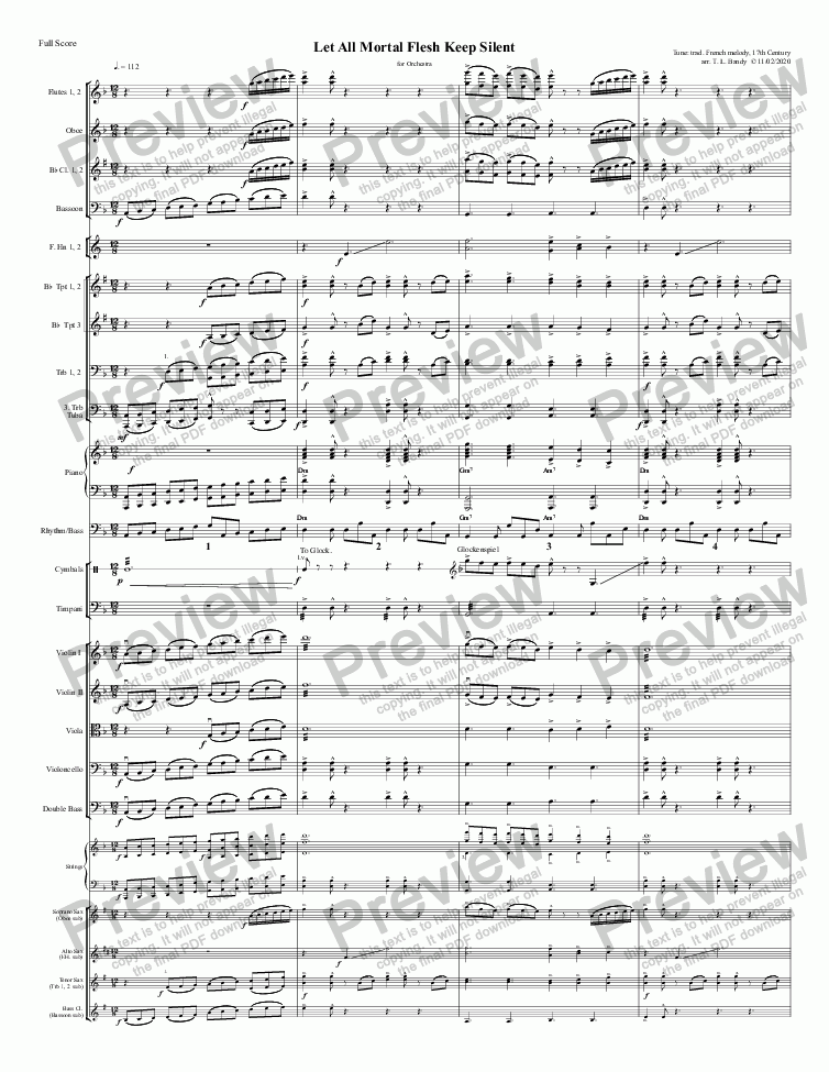 page one of I Sing the Mighty Power of God (Orchestra)