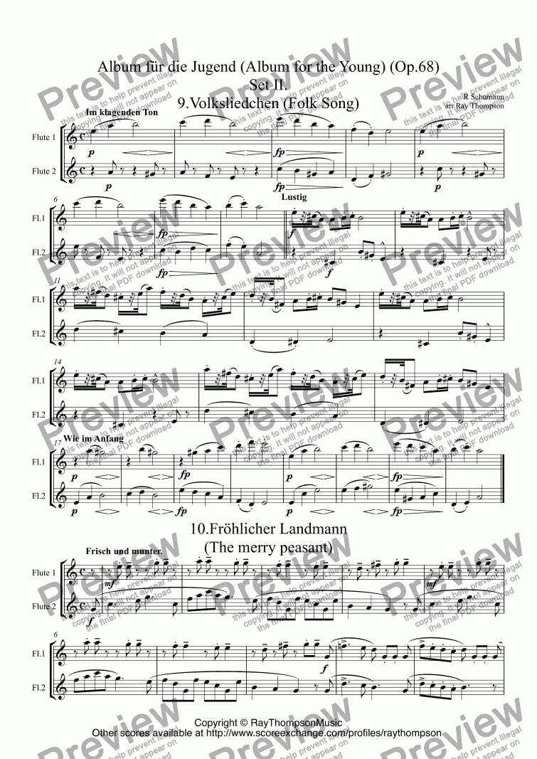 Poor Orphan (Armes Waisenkind) from Album für die Jugend Op. 66 - Piano