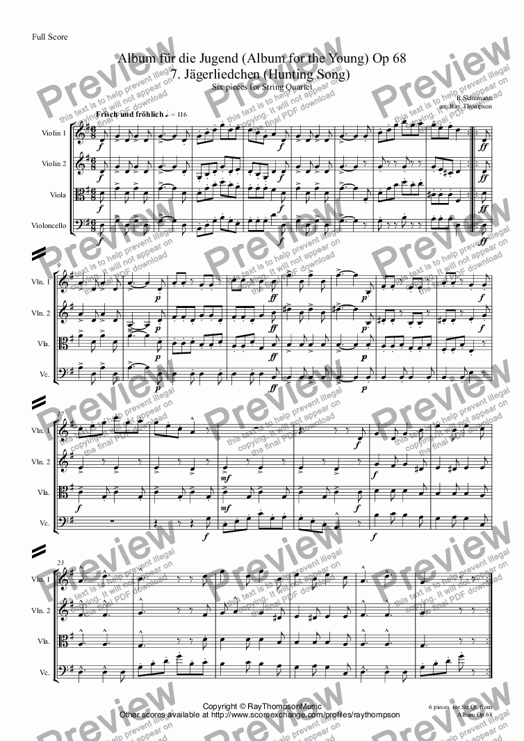 page one of Schumann: Album für die Jugend(Album for the Young)(Op 68)