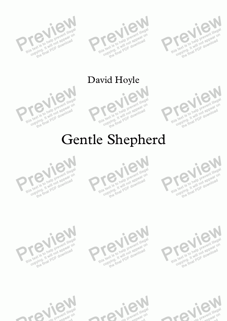 page one of Gentle Shepherd