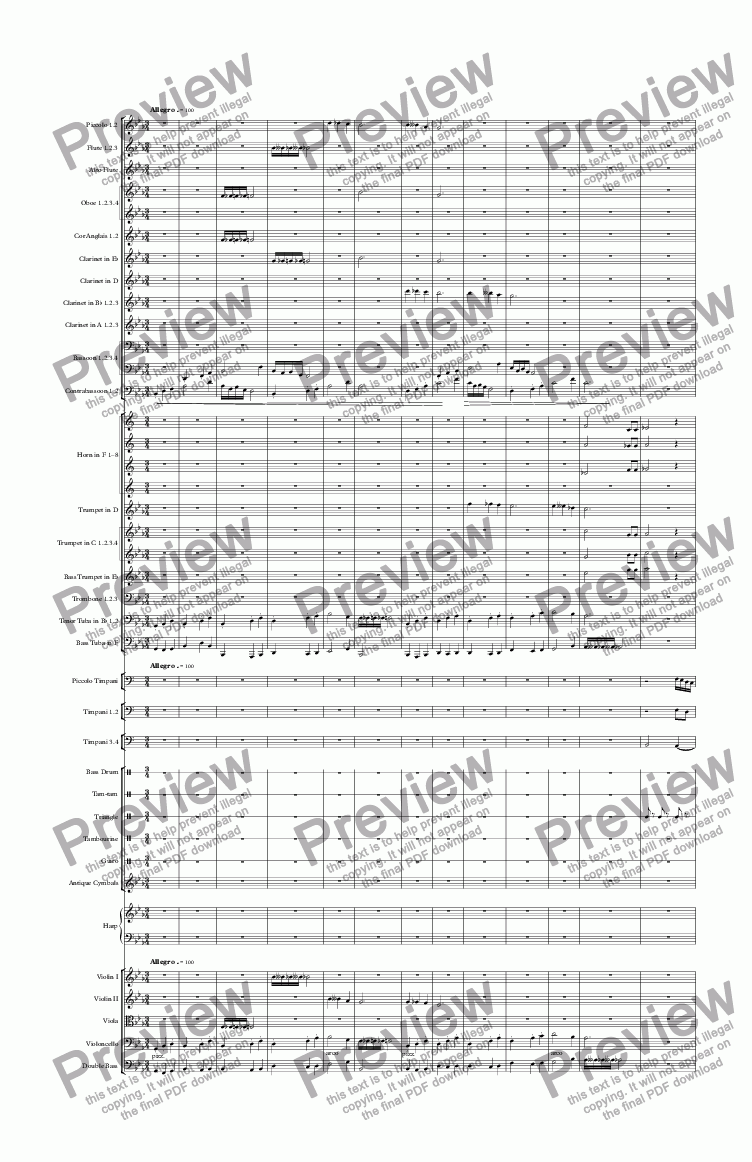 page one of Variations for Orchestra