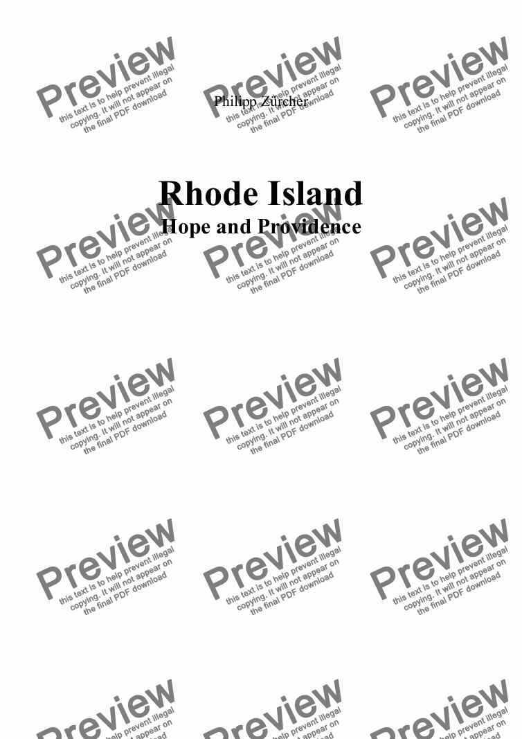 page one of Rhode Island - Part 1: Hope