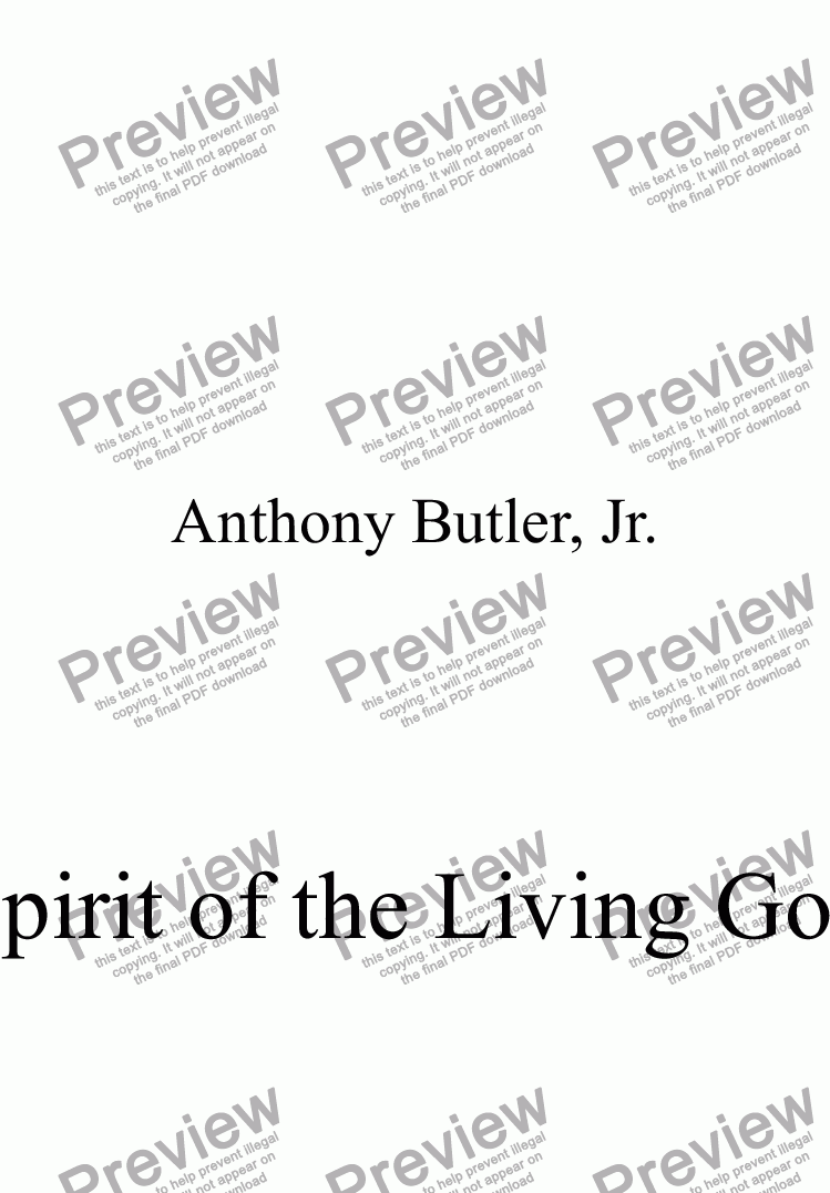 page one of Spirit of the Living God