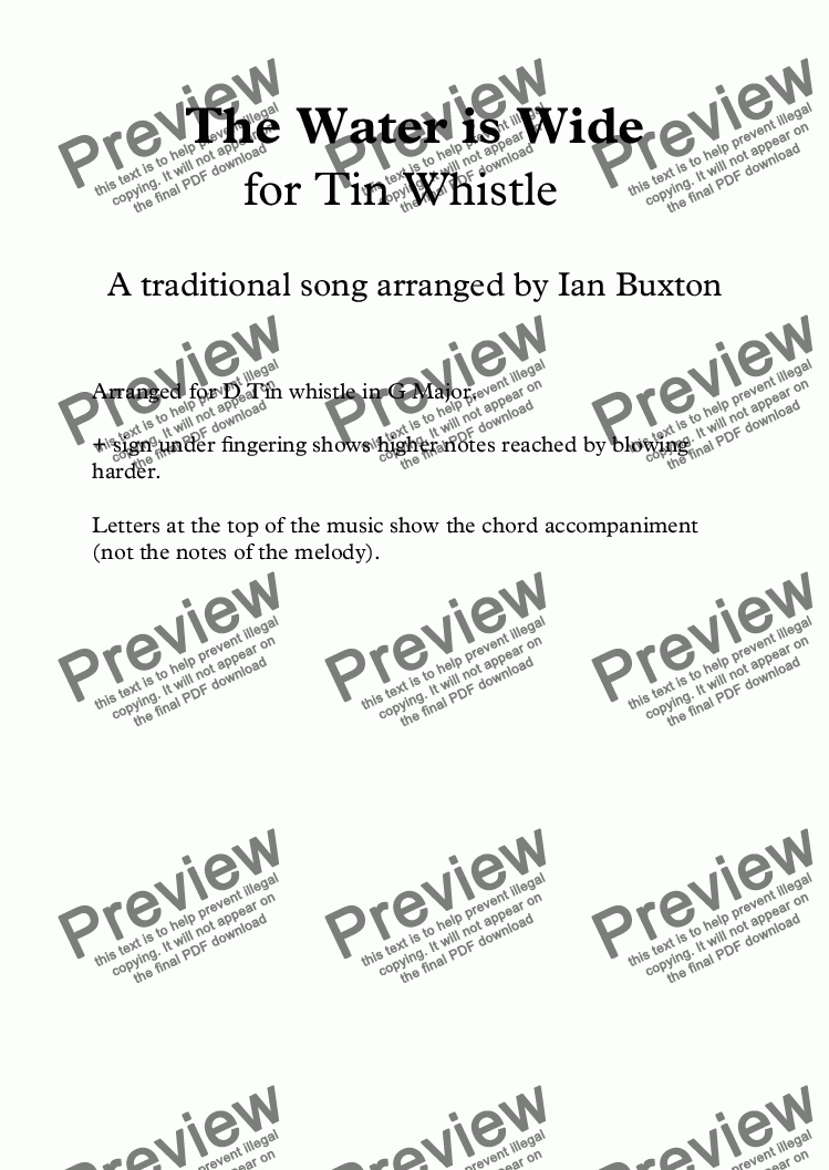 the tin whistle songbook pdf