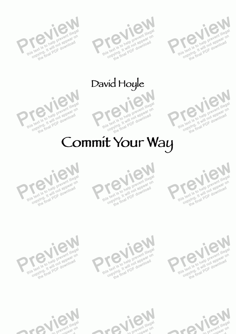 page one of Commit Your Way
