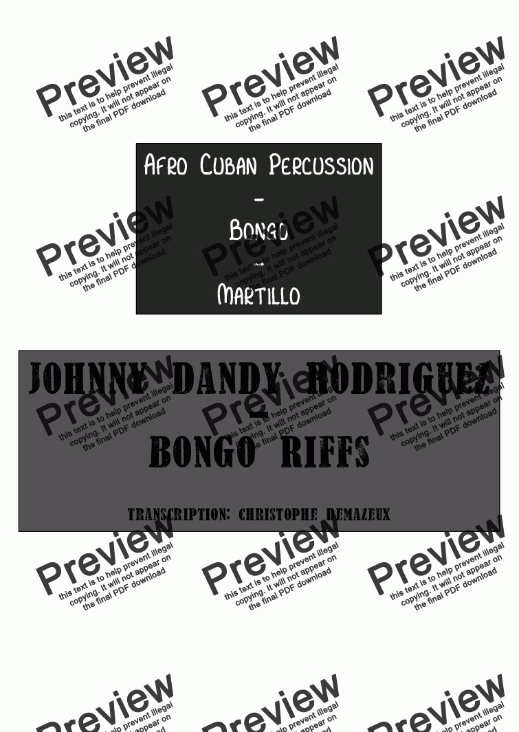 page one of Johnny Dandy Rodriguez - Bongo Martillo