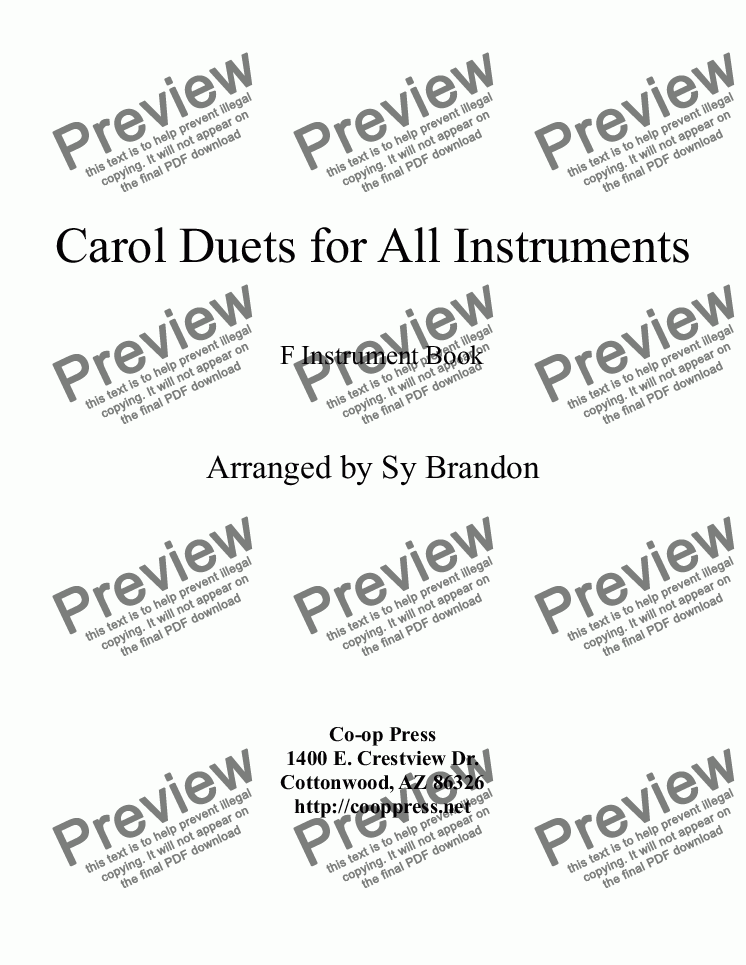 page one of Carol Duets for all Instruments F Book