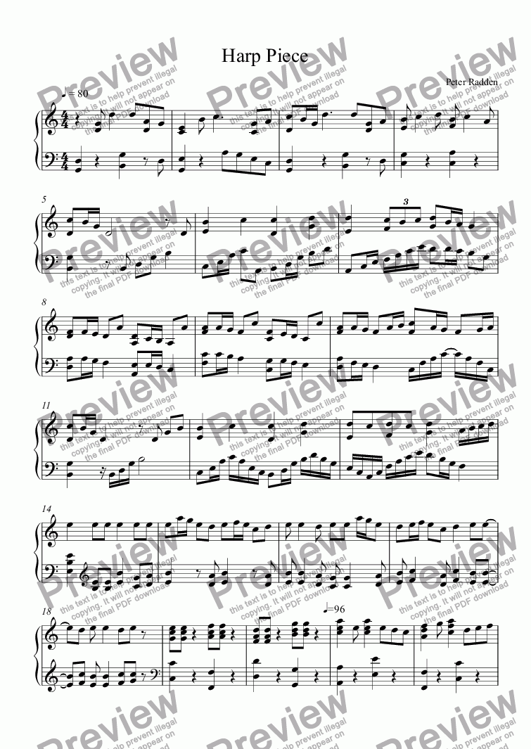 page one of Harp Piece