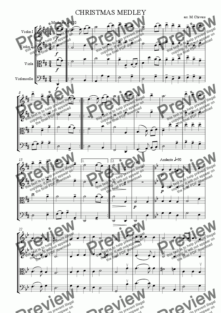 page one of Christmas Medley No.1