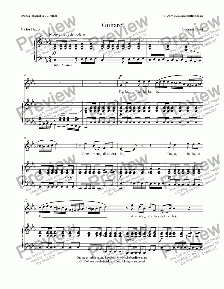 page one of Guitare
