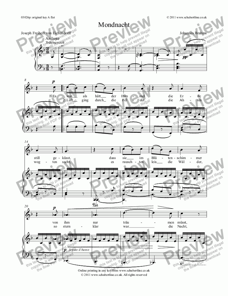 page one of Mondnacht