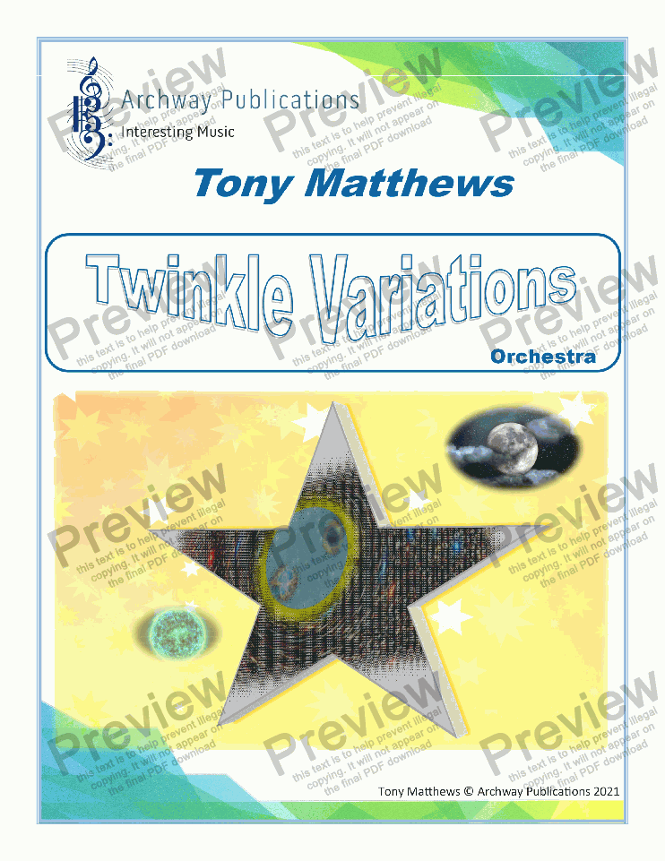 page one of Twinkle Variations
